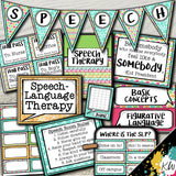 Speech Therapy Decor: Tropical Sea Speech Room Decor The Elementary SLP Materials Shop