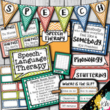 Speech Therapy Decor: Watercolor Chevron Speech Room Decor The Elementary SLP Materials Shop