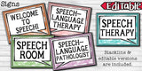 Speech Therapy Decor: Watercolor Speech Room Decor The Elementary SLP Materials Shop