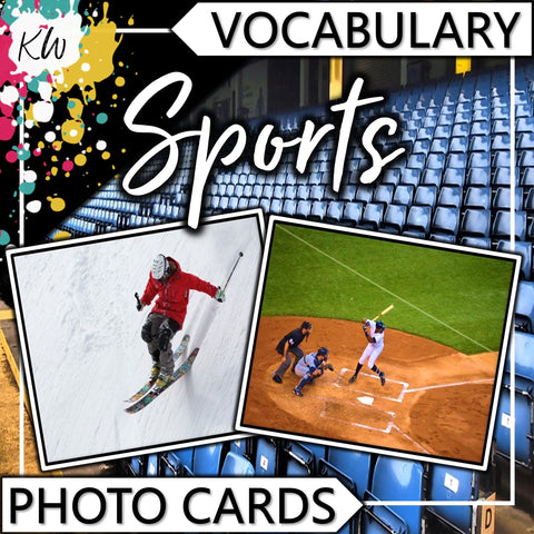 Sports PHOTO CARDS The Elementary SLP Materials Shop