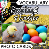 Spring & Easter PHOTO CARDS The Elementary SLP Materials Shop