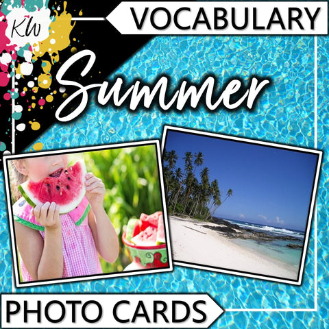 Summer PHOTO CARDS The Elementary SLP Materials Shop