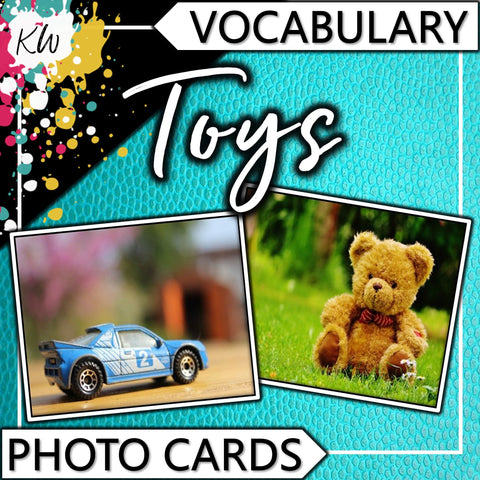 Toys PHOTO CARDS The Elementary SLP Materials Shop