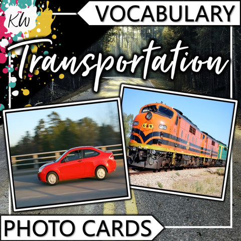 Transportation PHOTO CARDS The Elementary SLP Materials Shop