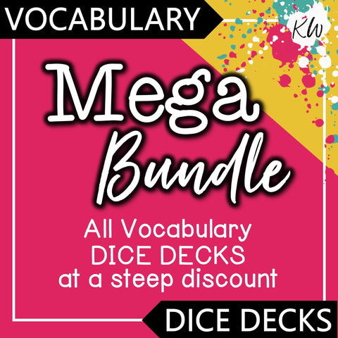 Vocabulary DICE DECKS Mega Bundle The Elementary SLP Materials Shop