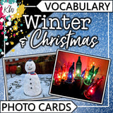 Winter and Christmas PHOTO CARDS The Elementary SLP Materials Shop