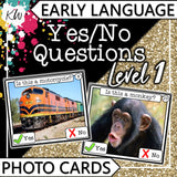 Yes/No Questions (Level 1) PHOTO CARDS The Elementary SLP Materials Shop