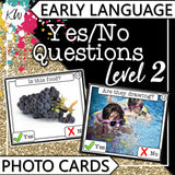 Yes/No Questions (Level 2) PHOTO CARDS The Elementary SLP Materials Shop