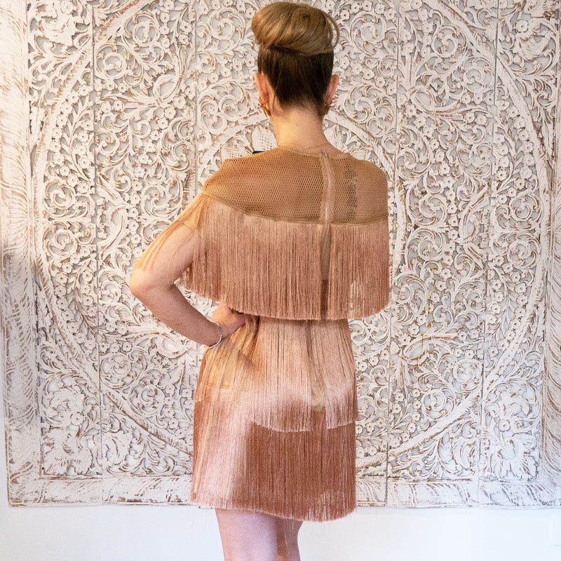 Rose Gold Fringe dress