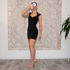 Black slinky dress
