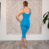 Strech electric blue dress