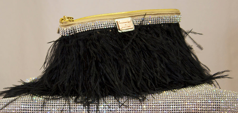 noir de noir, bag, clutch