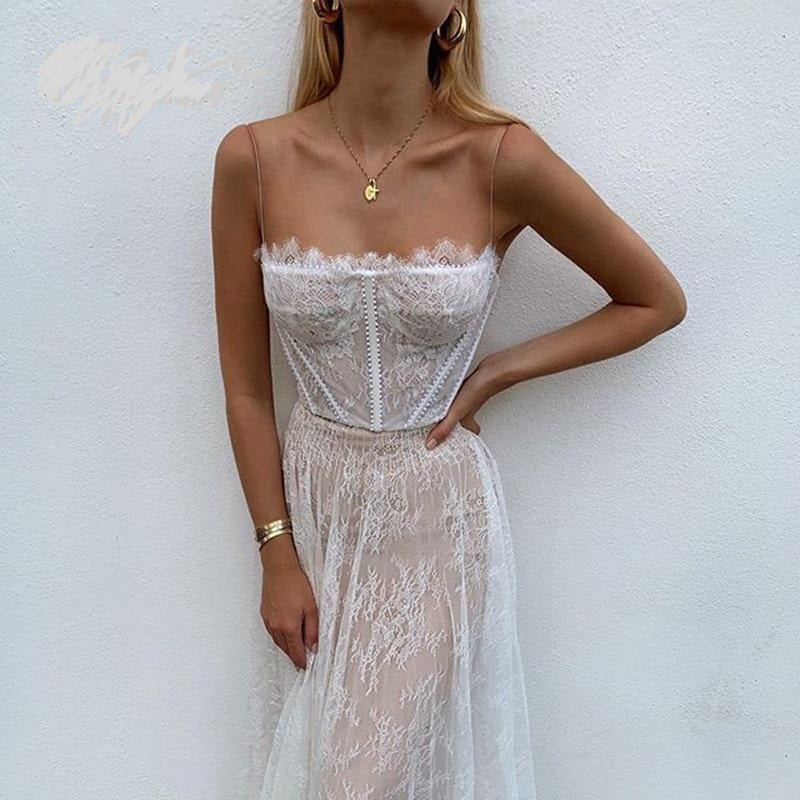 Long Lace Maxi Dress