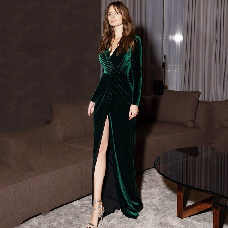 Green Velour Gowns