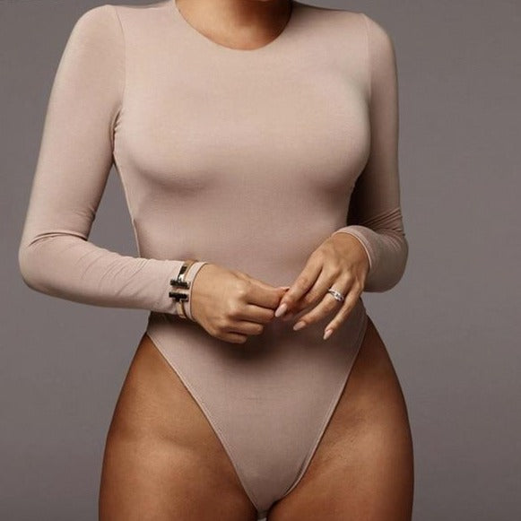 O Neck Long Sleeve Bodysuit