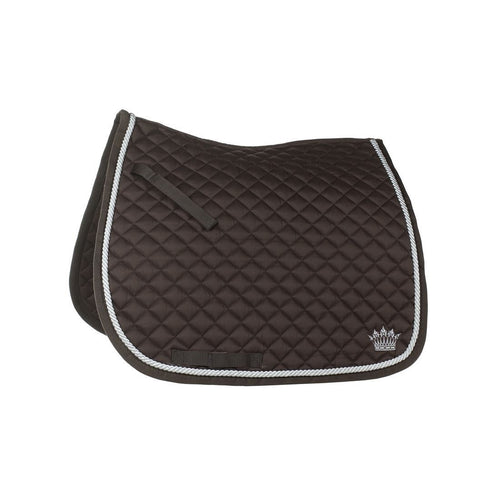 Dressage Saddle Cloth - Brown with Silver Cord