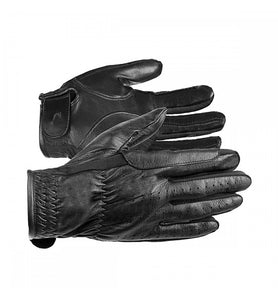 Horze Thin Leather Glove Black