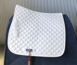 Horze Supreme White Dressage Saddle Cloth Pony