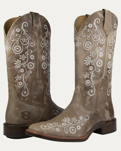 Noble Outfitters Women's All-Around Square Toe Frontier Boots FLORAL Sz 38.5 and 40 ONLY