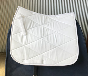 Dressage Saddle Cloth White - Full