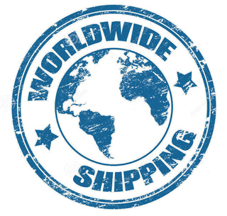 Seal showing worldwide shipping option.