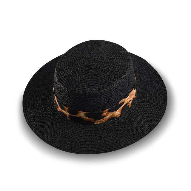 Leopard Band | Boater Hat