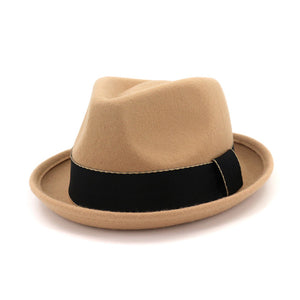 Black Gold Band Trilby Hat