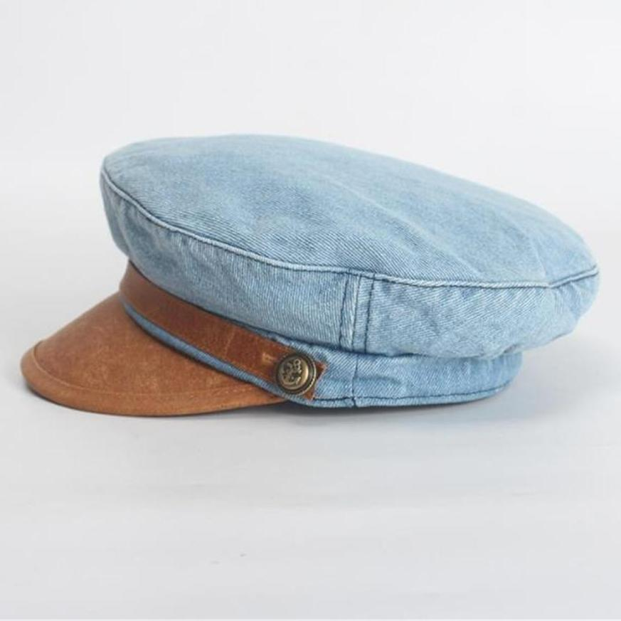 Denim Leather | Baker Boy Cap