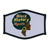 """Black History Month Portrait"" Face Mask"
