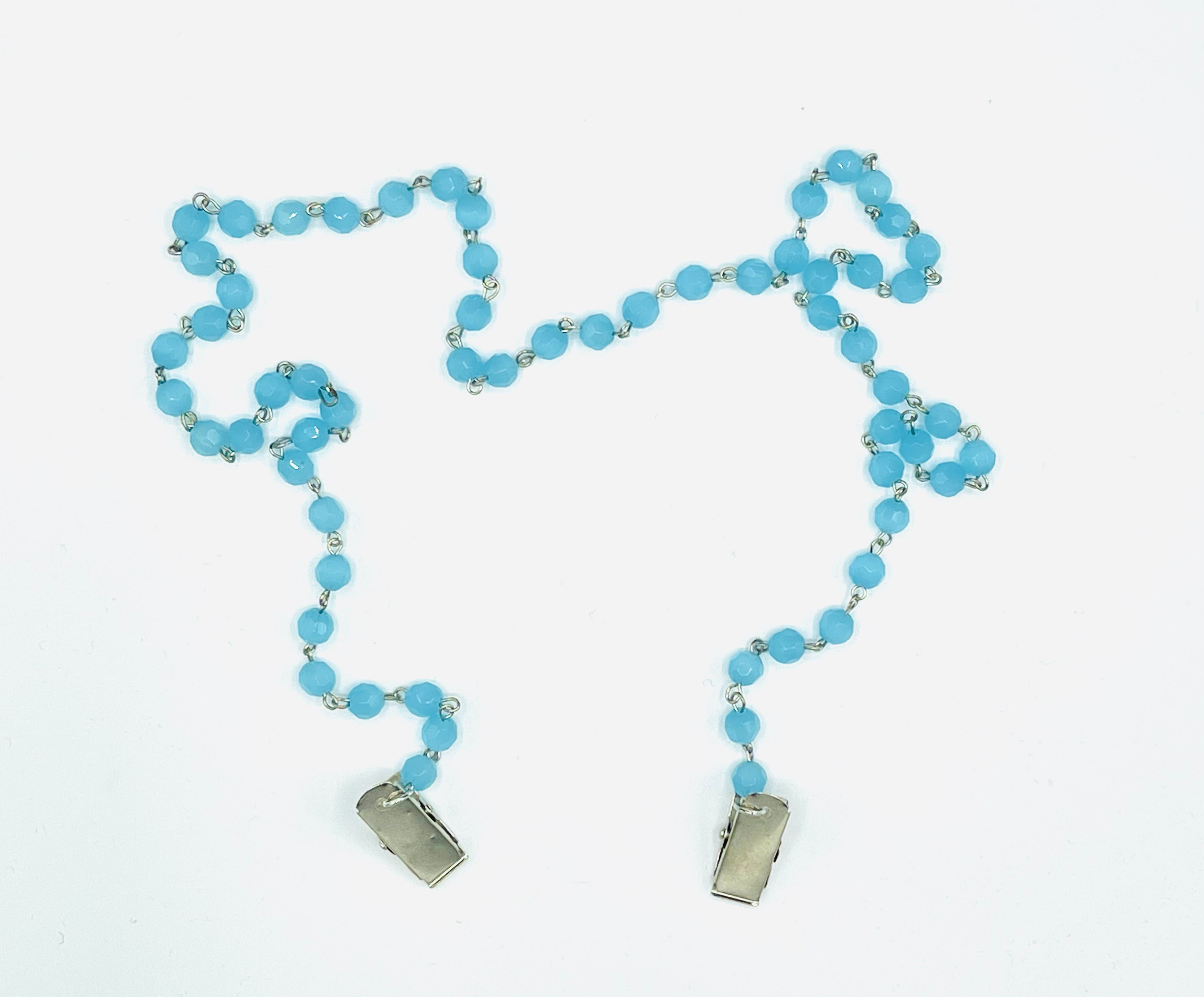 Baby Blue Rosary Chain - Just Released!