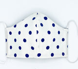 Navy Polkadot Mask