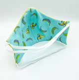 REVERSIBLE Blue Banana - 2 Masks for the Price of 1!