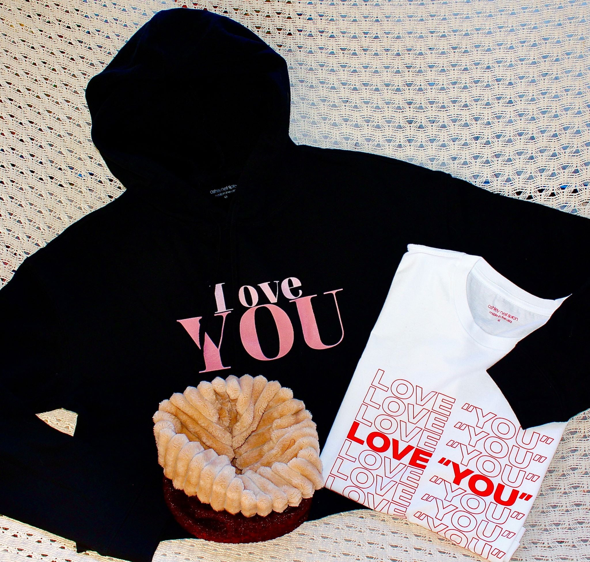 "Purchase Any Love ""YOU"" Cropped Hoodie or TShirt Get a Free 3-in ! Scarf/Mask/Headband-Value $24.95!"