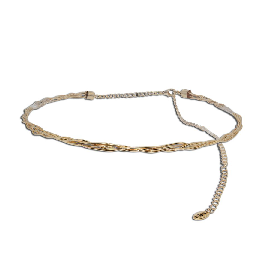 Gold Tone Metal Choker