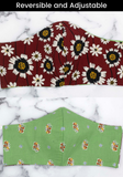 Reversible Flower Fields -- Two Masks for the Price of 1!