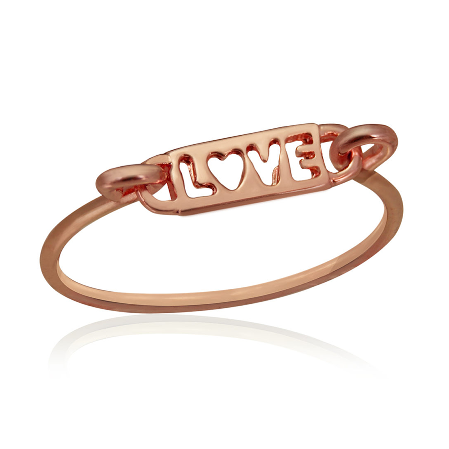 Rose Gold Love Plus Size Ring