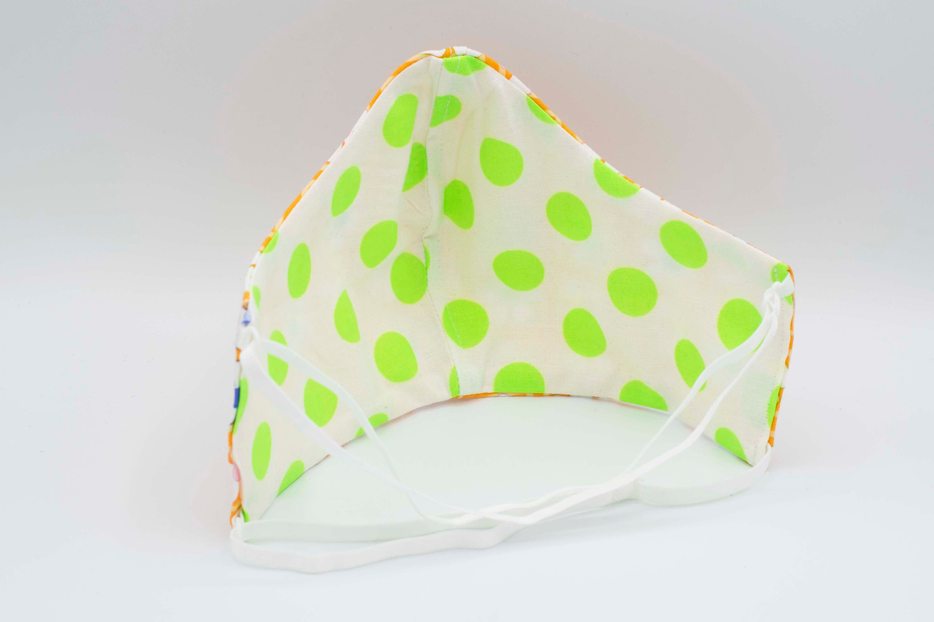 Reversible Retro Daisy and Neon Polka Dot - 2 Masks for the Price of 1