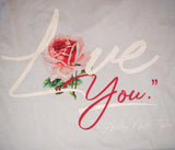 "LOVE ""YOU"" T-Shirt Cream"