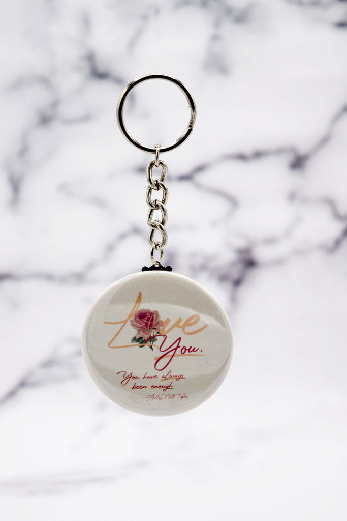 "LOVE ""YOU"" Button Keychain"
