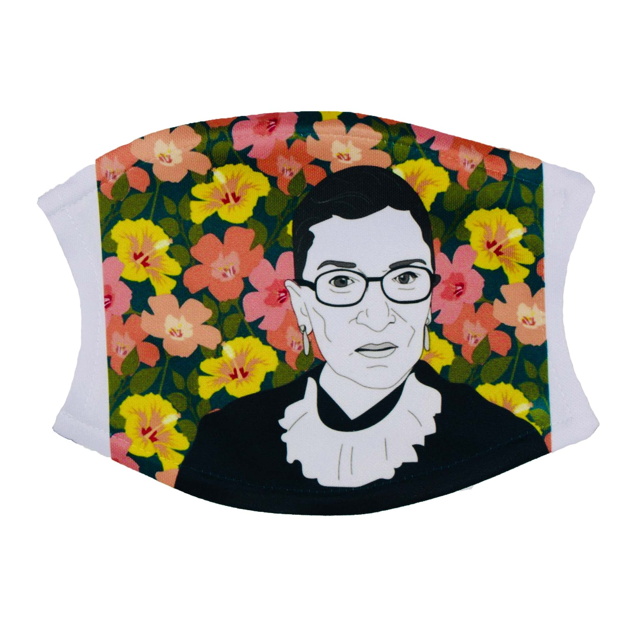 RBG Flowers Face Mask