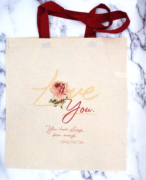 "LOVE ""YOU"" Grocery Tote"