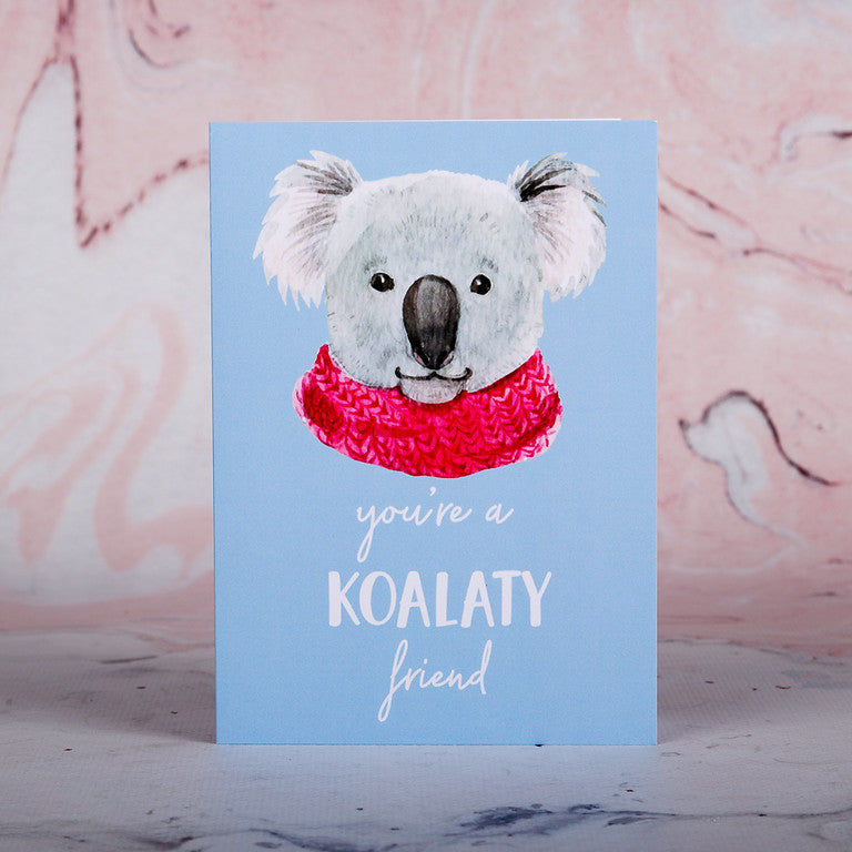 Koalaty Friend Greeting Card - Bee Kinder, Greeting Cards, vegan soy candle