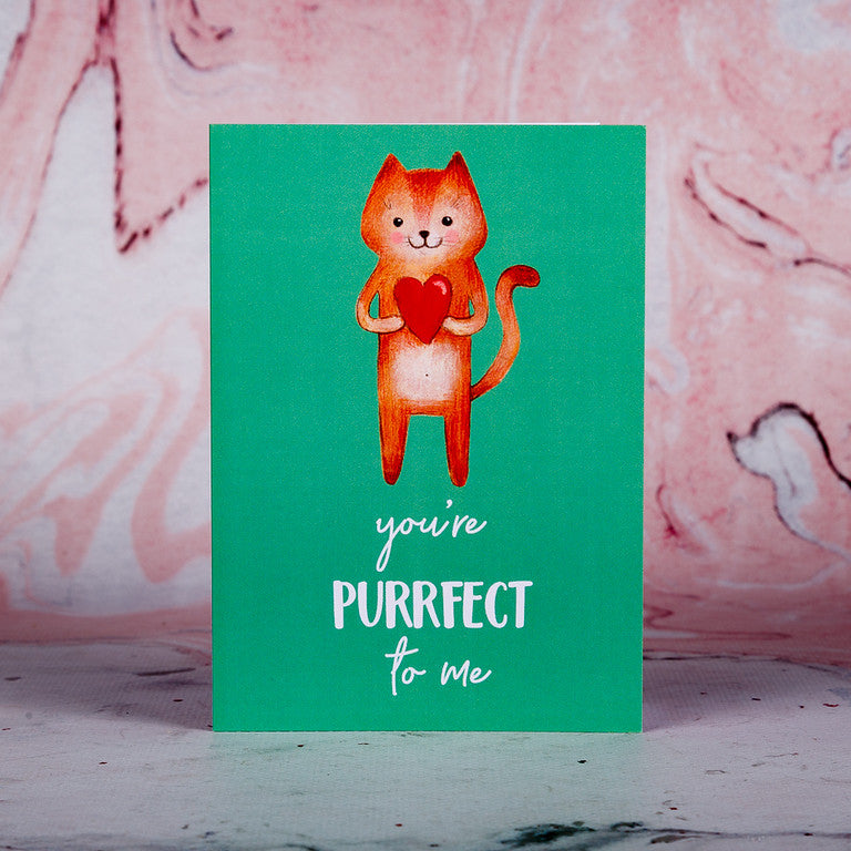 You're Purrfect To Me Greeting Card - Bee Kinder, Greeting Cards, vegan soy candle