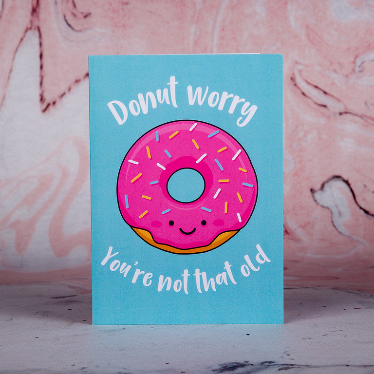Donut Worry Birthday Card - Bee Kinder, Greeting Cards, vegan soy candle