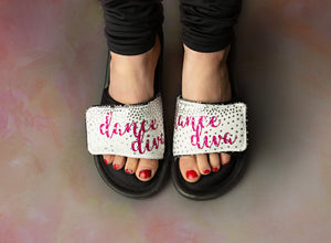 Dance Diva Bling Slides - Monogram That