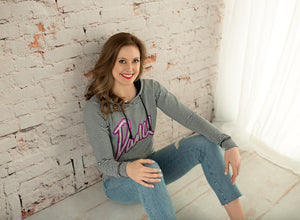 Dance Striped Lightweight Hoodie - Monogram That