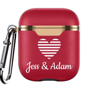 Custom Leather Airpod Case - Electroplated Valentine's Collection - Monogram That