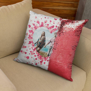 Custom Sequin Pillows with Insert - Valentine Frames - Monogram That