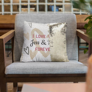 Custom Sequin Pillows - Valentine Pattern - Monogram That
