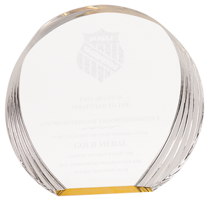 Round Acrylic Award - Monogram That